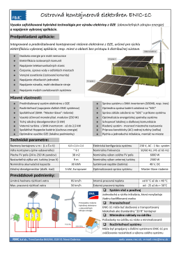 Ostrovná kontajnerová elektráren ENIC-1C