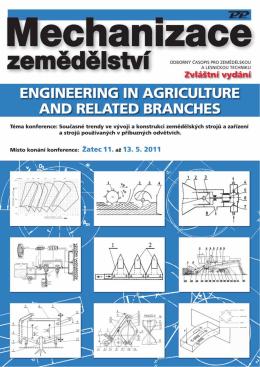 Mechanizace zemědělství - Katedra zemědělských strojů