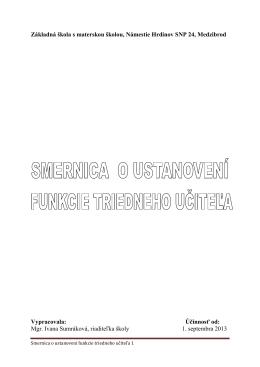 Mgr. Ivana Sumráková - ZÁKLADNÁ ŠKOLA S MATERSKOU