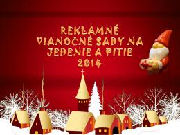 Reklamné vianočné sady na jedenie a pitie 2014