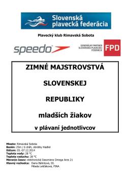 Výsledky - Plavecký klub Delfín Bratislava