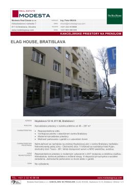 ELAG HOUSE, BRATISLAVA