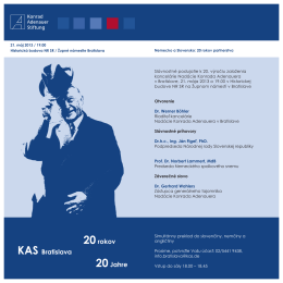 20 rokov kancelárie KAS v Bratislave (pdf, 466 KB)