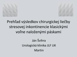 TOT – páska - Česká urologická společnost