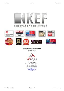 Maloobchodný cenník KEF Január 2013