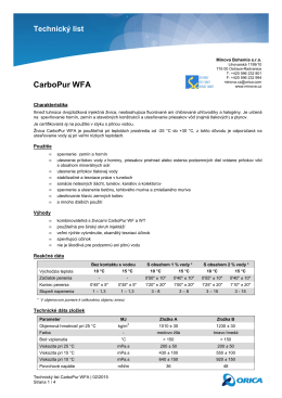 Technický list CarboPur WFA
