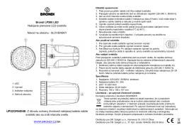 Brondi LP500 LED Nabíjacie prenosné LED svietidlo Návod na