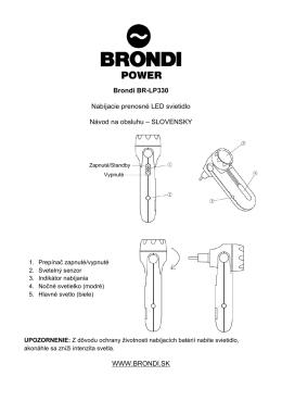 Brondi BR-LP330 Nabíjacie prenosné LED - SOLIGHT E-shop