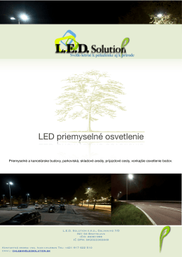 Cenník LED svietidiel pre priemysel v3 - nov 2012