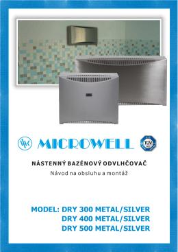 Bazénový odvlhčovač DRY 300/400/500 METAL