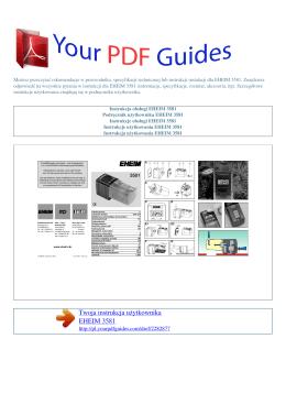 Instrukcje obsługi EHEIM 3581