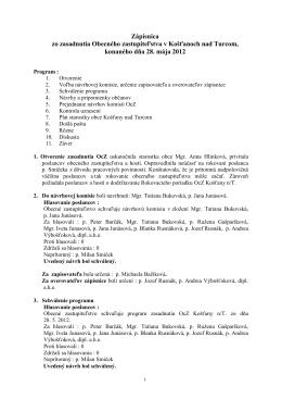 Zapisnica 2012-05-28