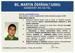 Martin Čerňan Kandidát do predstavenstva kolejného klubu MK
