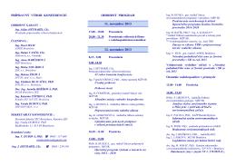 45. konferenciu vodohospodárov v priemysle