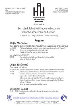 24. ročník letného filmového festivalu hraného