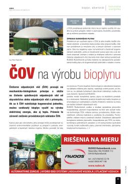ČOV na výrobu bioplynu