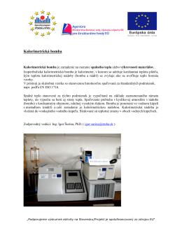 Kalorimetrická bomba