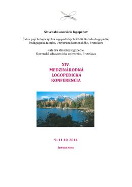 Pozvánka - Slovenská asociácia logopédov