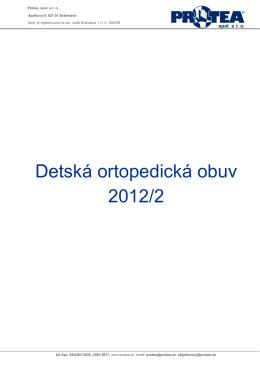Detská ortopedická obuv 2012/2
