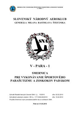 V - PARA - 1 - Slovenský národný aeroklub