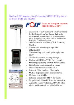 Akciový leták GNSS FOIF A20 (PDF,0.2MB)