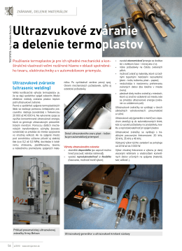 Ultrazvukové zváranie a delenie termoplastov