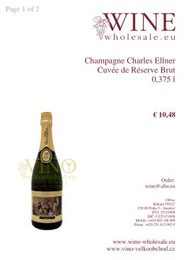 Champagne Charles Ellner Cuvée de Réserve Brut 0,375 l