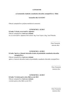 Uznesenie zo dňa 16. 10. 2013