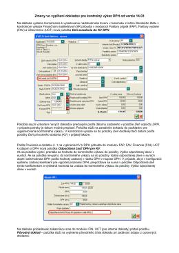 Zmeny vo vypĺňaní dokladov pre kontrolný výkaz DPH od