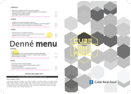 Denné menu - CUBE REAL FOOD