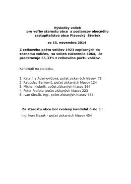 Výsledky komunalnych volieb