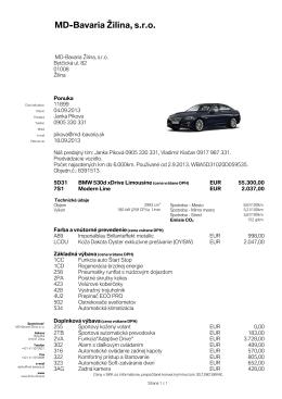 BMW Dealer - BMW Žilina