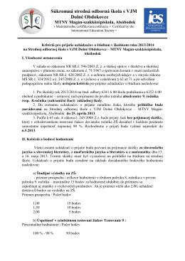 Súkromná stredná odborná škola s VJM Dolné Obdokovce