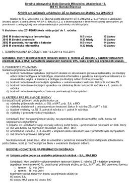 Stredná priemyselná škola Samuela Mikovíniho, Akademická 13