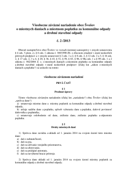 VZN dane a poplatky 2014