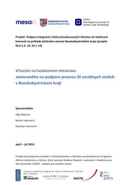 Správa o stave deinštitucionalizácie v SR