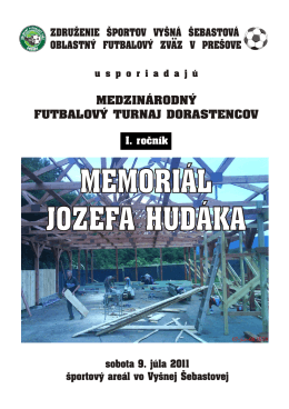 memoriál jozefa hudáka memoriál jozefa hudáka