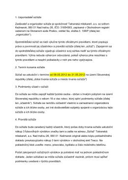 Podrobné pravidlá.pdf - Tatranská mliekareň as