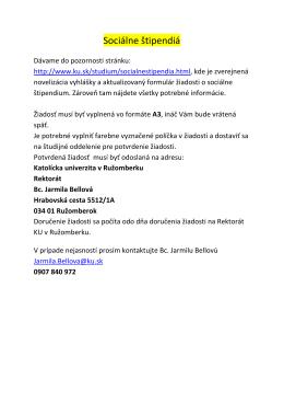 Socialne štipendia-oznam akt. 17.10.2013