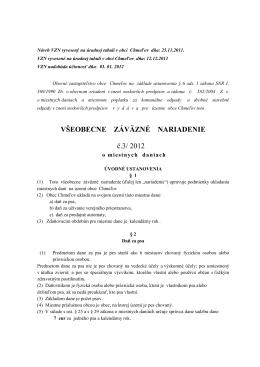 VZN č 3/2012 o miestnych daniach