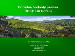 Prírodné hodnoty na území CHKO BR Poľana