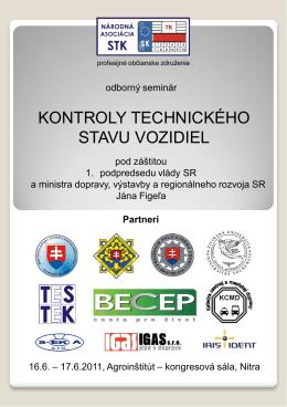 """Odborný seminár """"Kontroly technického stavu vozidiel"""""""