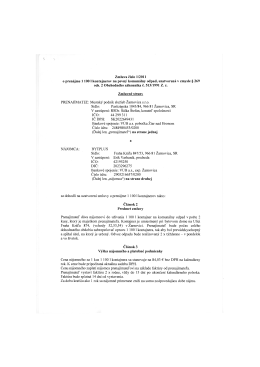 Zmluva číslo 1/2011 o prenájme 1 100 1 kontajnerov na pevný