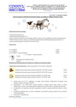 Vec: Cenová ponuka na chladiace zariadenia