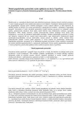 Model populačného potenciálu a jeho aplikácia