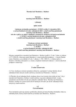 VZN 34/2013 - Základná škola, Vrútocká 58, 82104 Bratislava