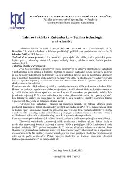 Talentová skúška v Ružomberku - kpd.tnuni.sk
