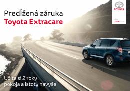Predĺžená záruka Toyota Extracare - toyota
