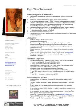 PDF odborný profil Mgr. Tina Turnerová