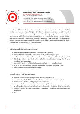 PDF, 155 KB - Poradňa pre občianske a ľudské práva